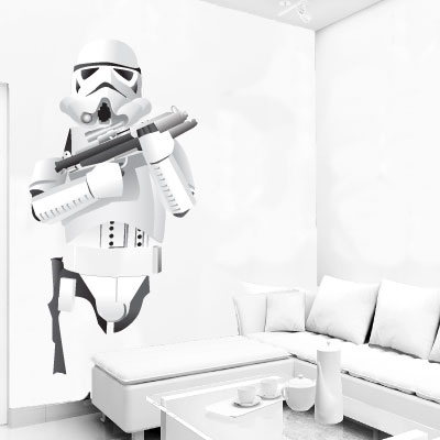 stormtrooper inspired wall stickers