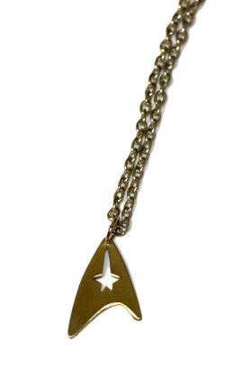 Rare star trek TOS logo necklace. Hand cut from quality Brass.