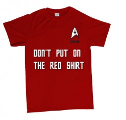 dont put on the red shirt star trek