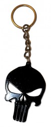 The Punisher superhero logo rare metal keyring from the movie