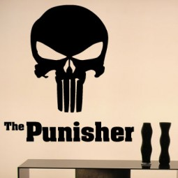 The punisher classic scifi giant wall art sticker!