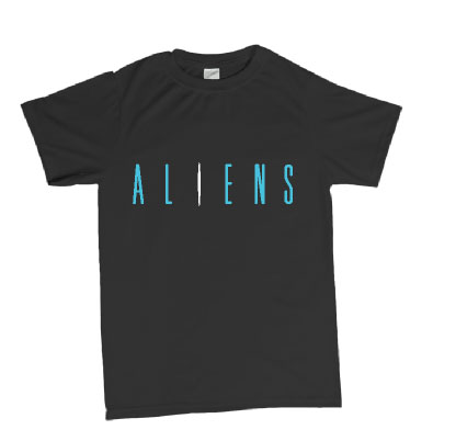 Aliens logo t-shirt