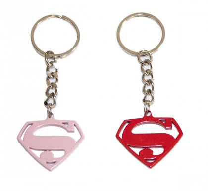 Superman logo rare metal keyring from the movie