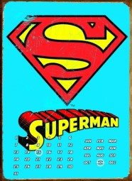 Superman Perpetual metal calender