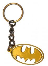 Batman batwing yellow aluminium keyring