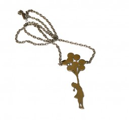 Banksy Girl balloons necklace