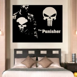 The punisher logo with frank giant wall art sticker!