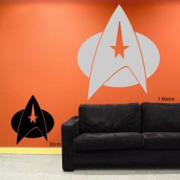Classic Star Trek logo wall art
