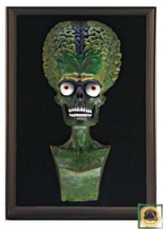 Rare 3D Bust of the Martian Leader Resin prop from Mars Attacks!