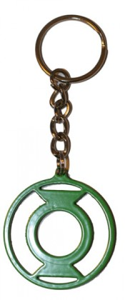 Green lantern keyring. Heavy aluminium construction.