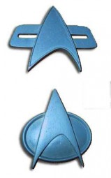 Two Star Trek Communicator Pin kit 1:1 movie scale
