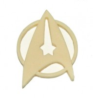 Star trek off duty resin insignia pin / badge.
