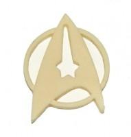 Star trek off duty resin insignia pin / badge.