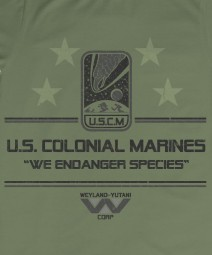 USCM Colonial Marine T_shirt or Hoodie We endanger species